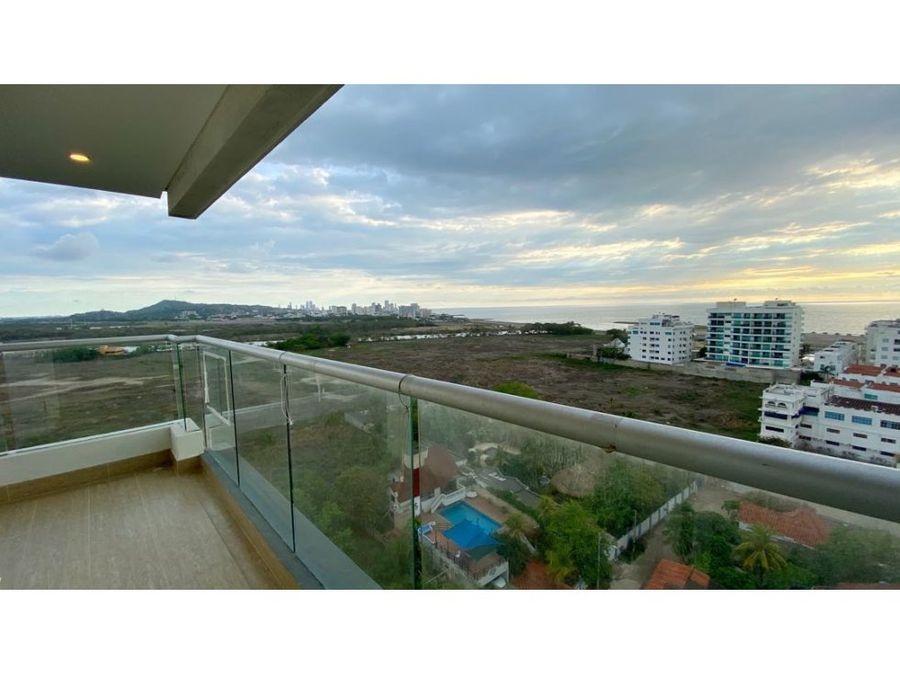 venta apartamento 3 alcobas en edificio ferrara en cielo mar cartagena
