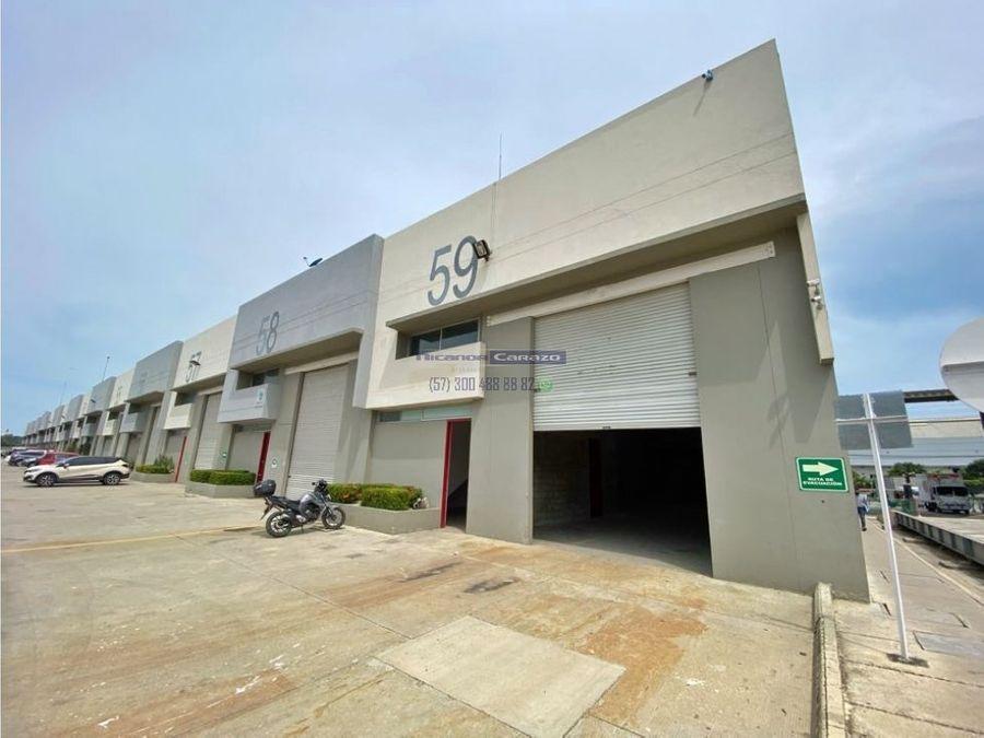 venta arriendo de bodega en bloc port centro logistico en cartagena