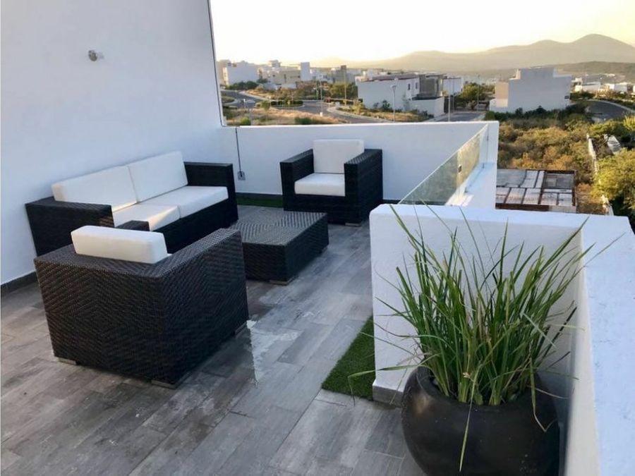 venta casa 3 recamaras roof garden zibata el marques queretaro