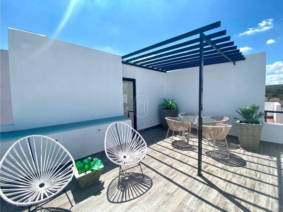 venta casa 2 recamaras con roof garden en zakia el marques queretaro