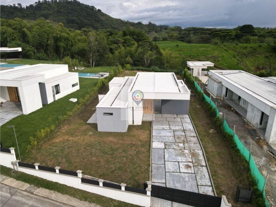 venta casa campestre nueva en el sector de combia pereira