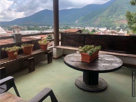 venta casa antigua guatemala dentro de condominio