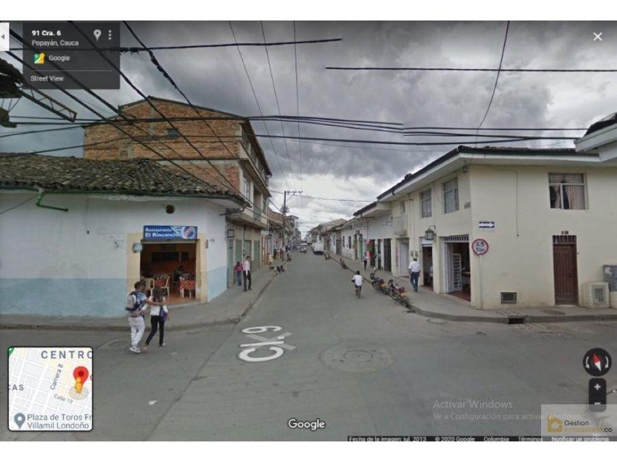venta casa en el centro de popayan