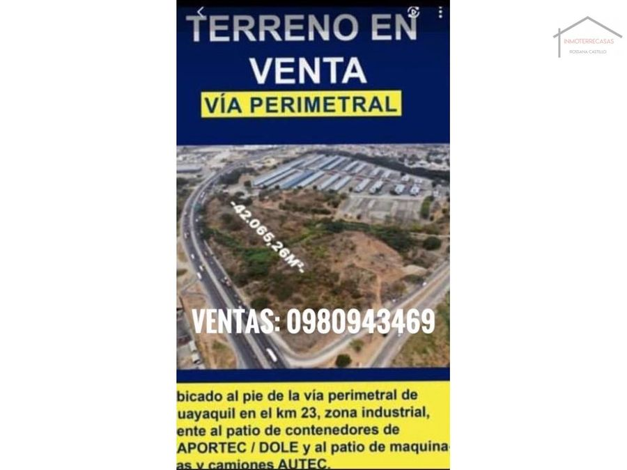 venta de terreno en guayaquil km 23 via a daule