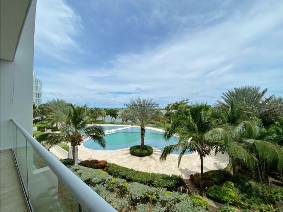 venta apartamento 3 alcobas en karibana beach cartagena