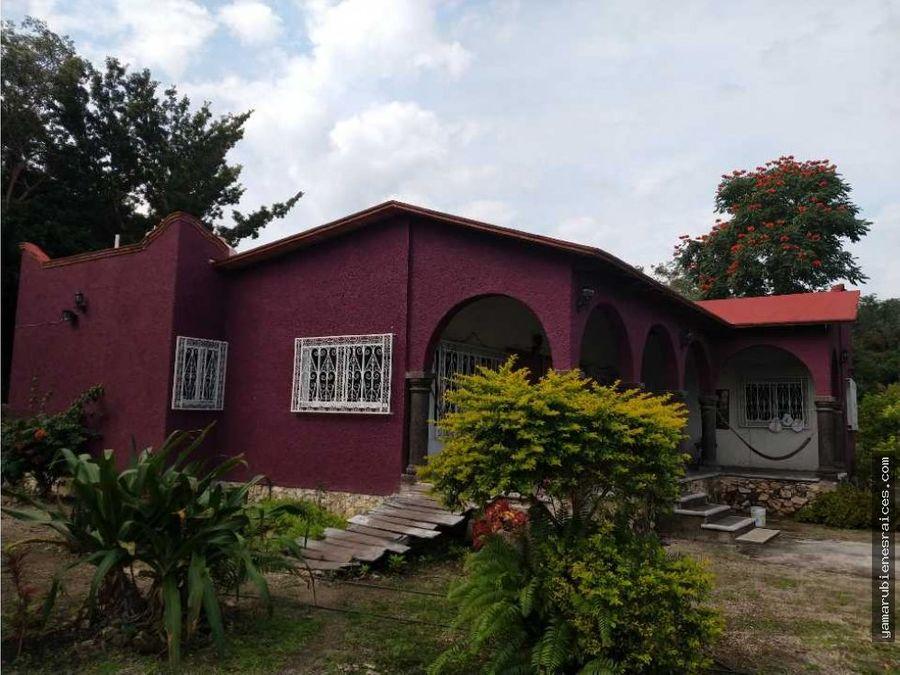 venta de casa de campo en champoton