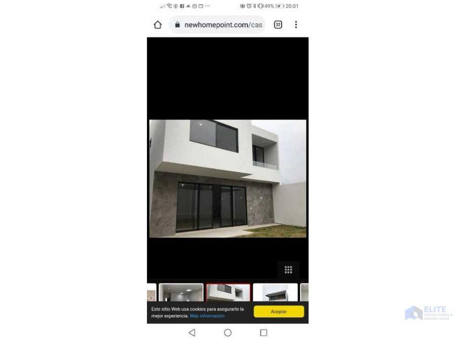 venta de casa en amorada residencial santiago