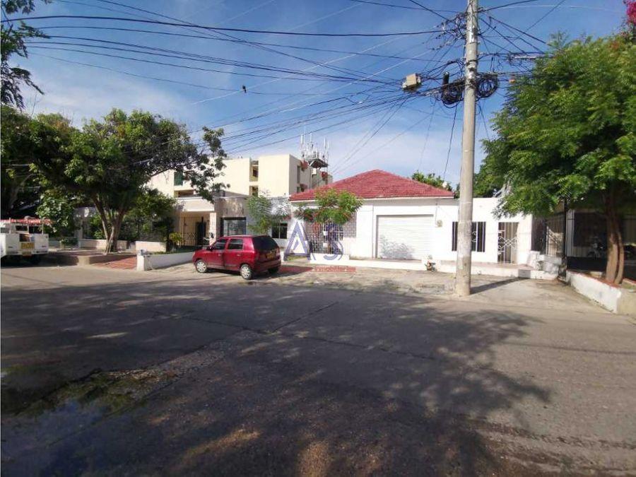 venta de casa en barrio el porvenir barranquilla