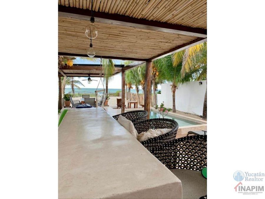 venta de casa frente al mar en chicxulub