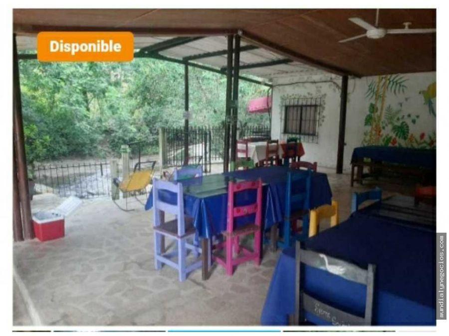 venta de hostal y restaurante amoblado a orillas del rio minca