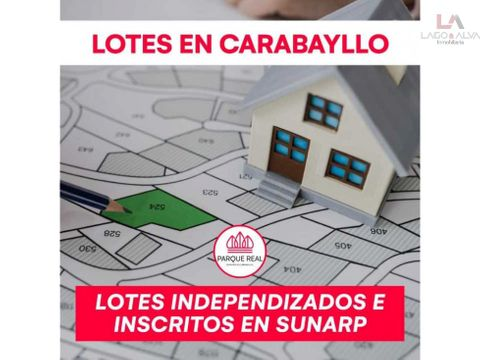 venta de lotes residenciales en carabayllo