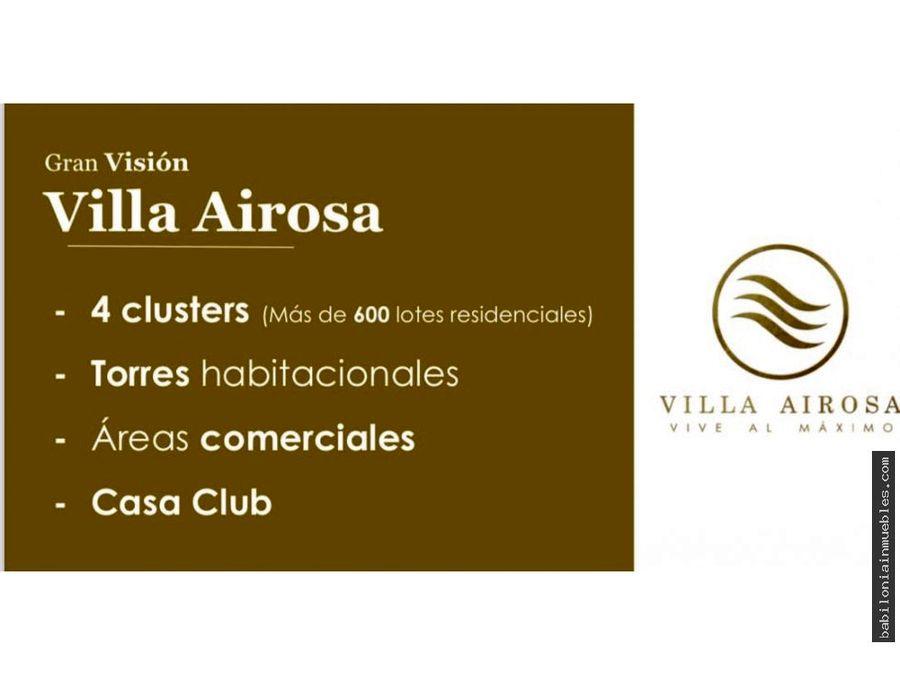 venta de lotes residenciales villa airosa pachuca hgo