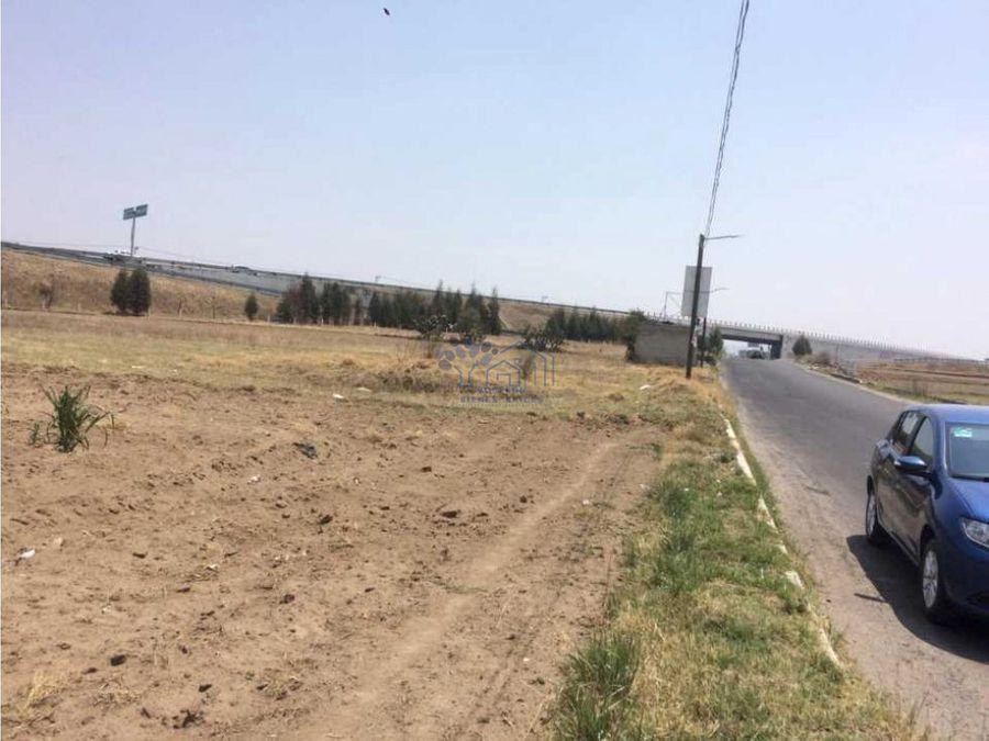venta de terreno a pie de carretera atlahapa