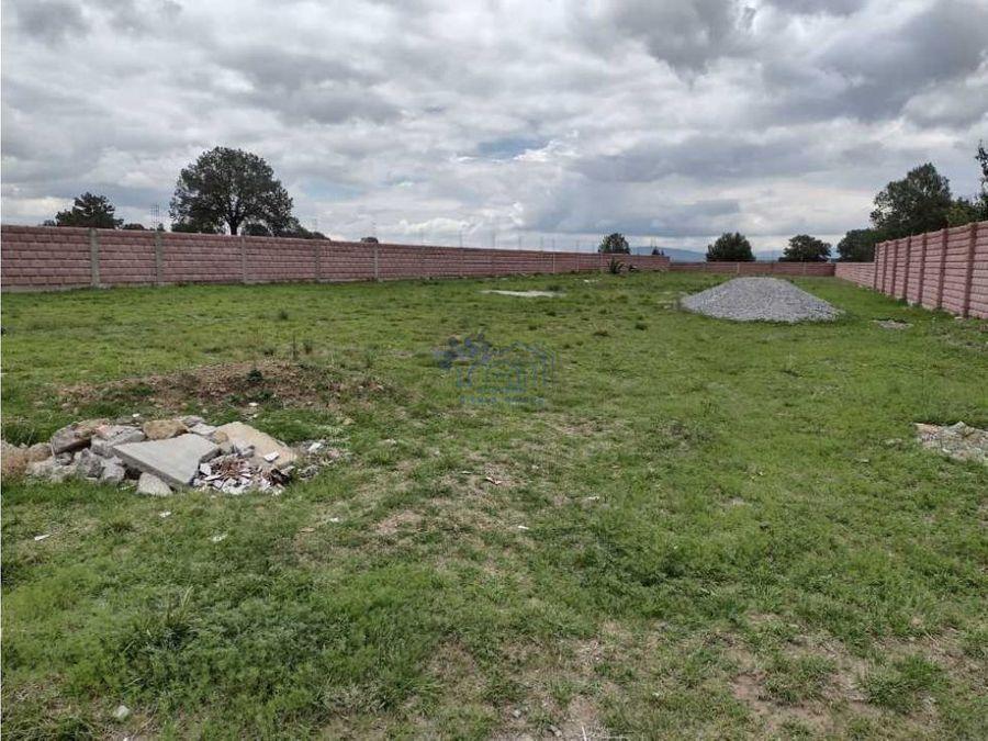 venta de terreno bardeado en san jose tetel