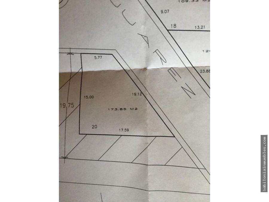 venta de terreno en esquina en pachuquilla