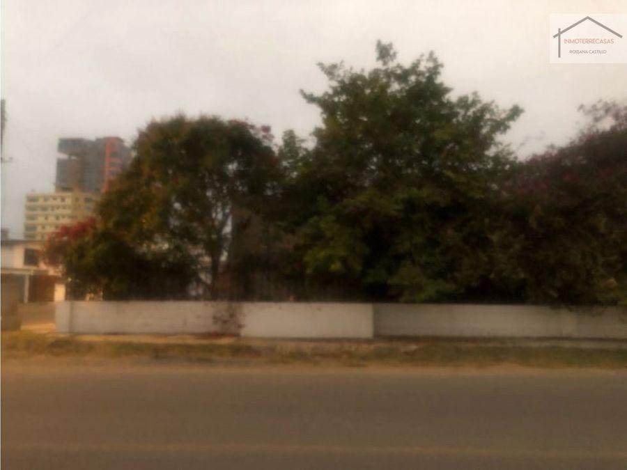 venta de terreno en salinas 3era calle esquina