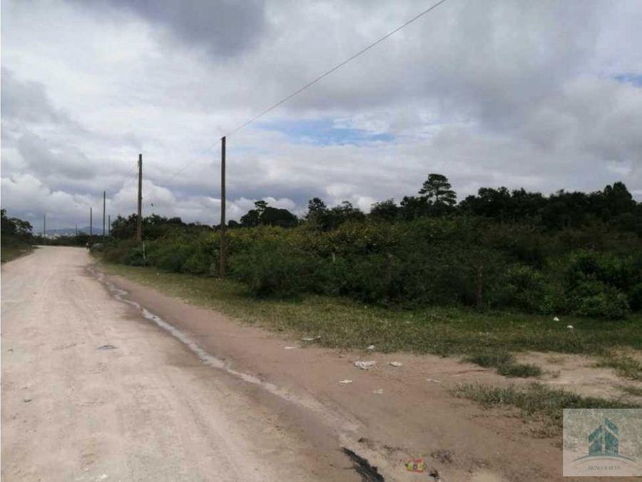 venta de terreno kilometro 12 salida al sur