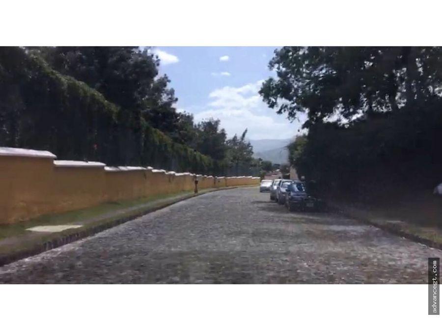 venta de terreno hermoso lugar antigua guatemala