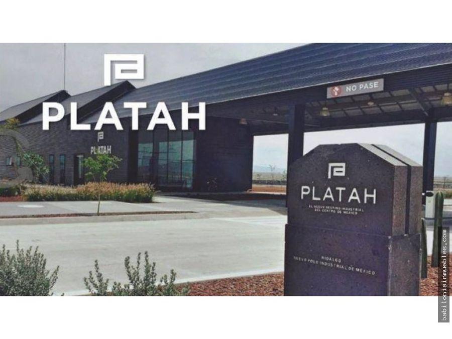venta de terrenos industriales en parque industrial platah
