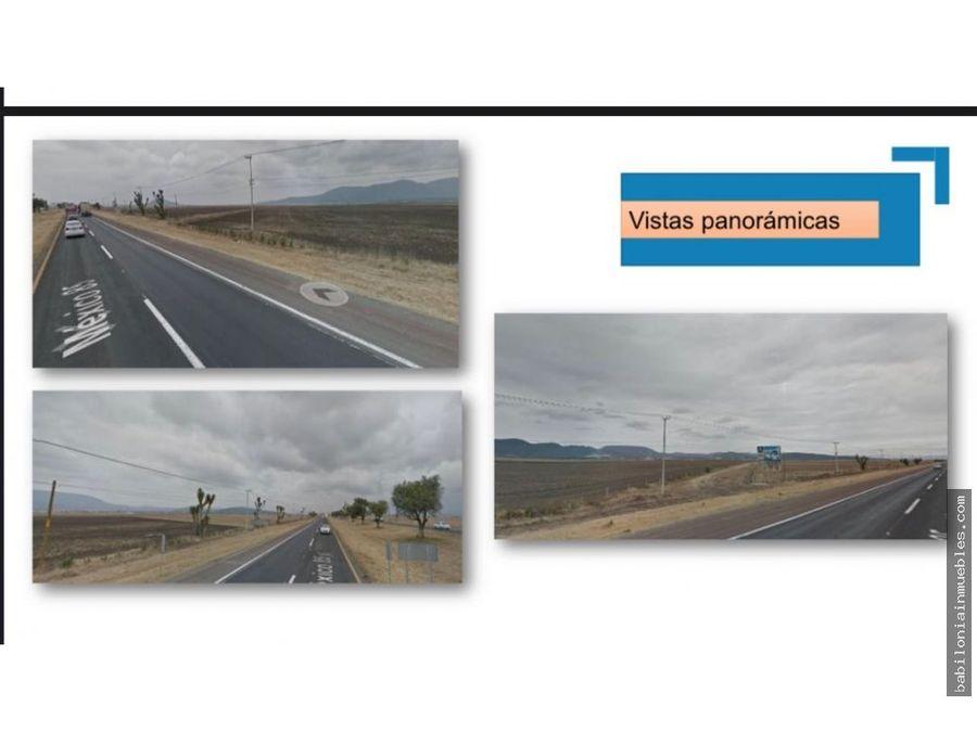venta de 12 hectareas sobre la autopista mexico pachuca