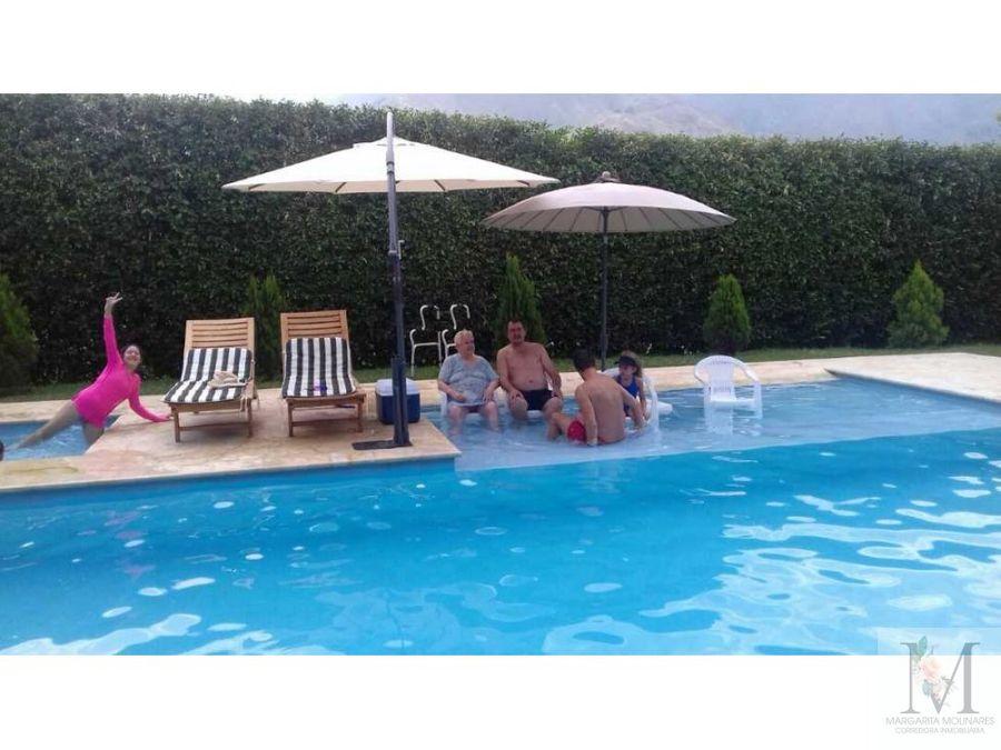 venta exclusiva casa campestre con piscina en san jeronimo antioquia