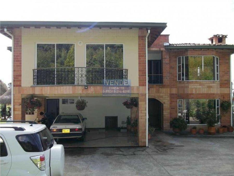 venta hermosa casa campestre en la loma de escobero oportunidad
