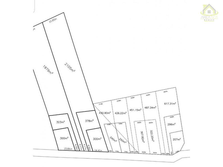 venta lotes en proyecto nuevo en san juan 300m2