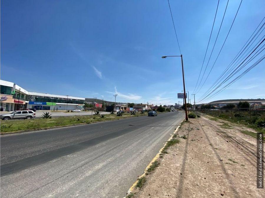 venta renta lotes para empresas carretera pachuca tulancingo