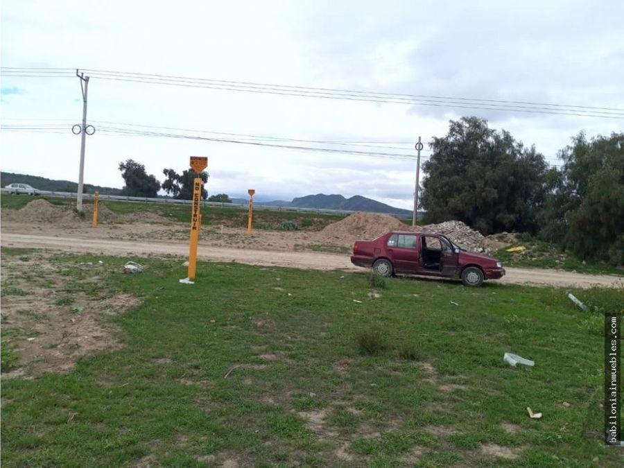 venta terreno 2 hectareas sobre carretera pachuca sahagun
