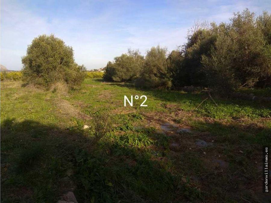 venta terreno agricola en orba alicante