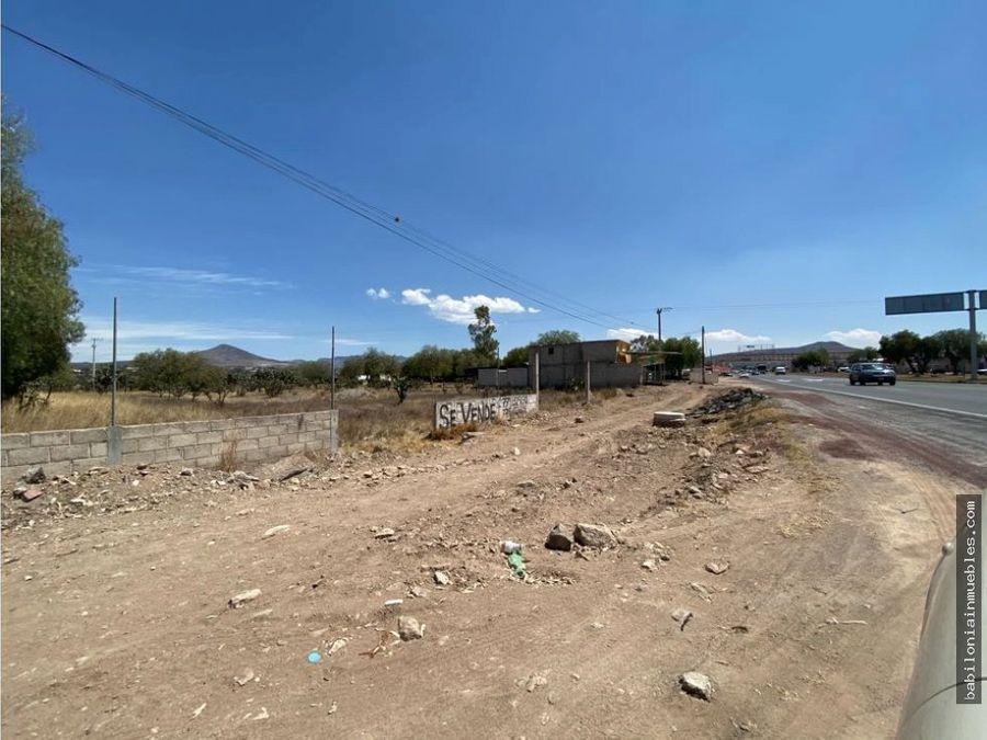 venta terreno sobre carretera actopan