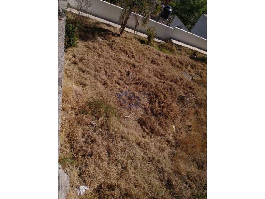 venta terreno en atempan tipo residencial con vista panoramica