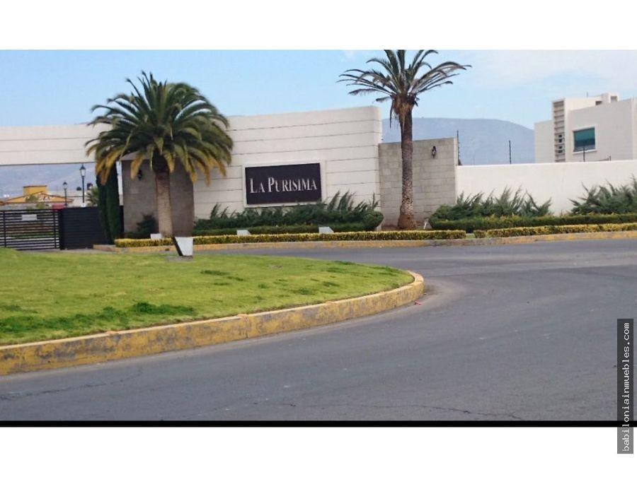 venta terreno residencial zona plateada purisima