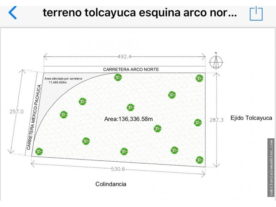 venta 14 hec autopista mexico pachuca arco nt