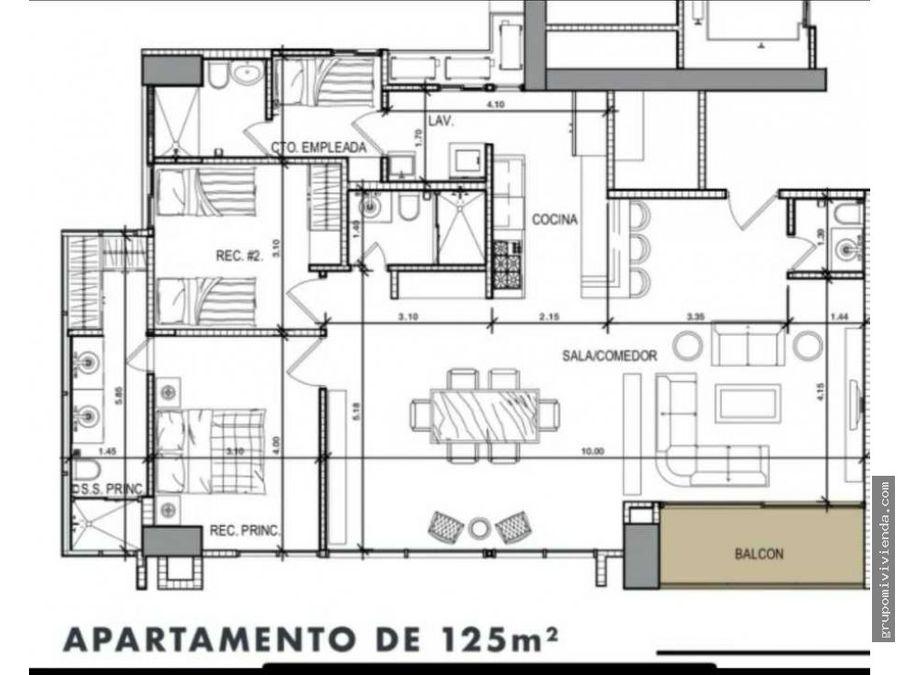 ventaalquiler de apartamento en proyecto victory sport