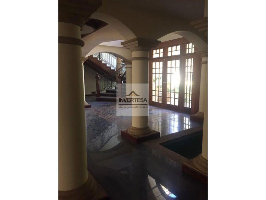 venta alquiler espectacular mansion en el sausalito fraijanes