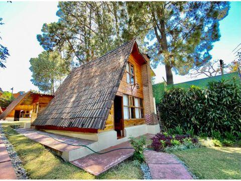 4 cabanas a precio de terreno en avandaro