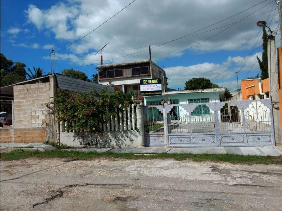 venta de casa en champoton centro terreno grande
