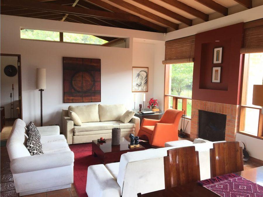 espectacular casa en sopo venta