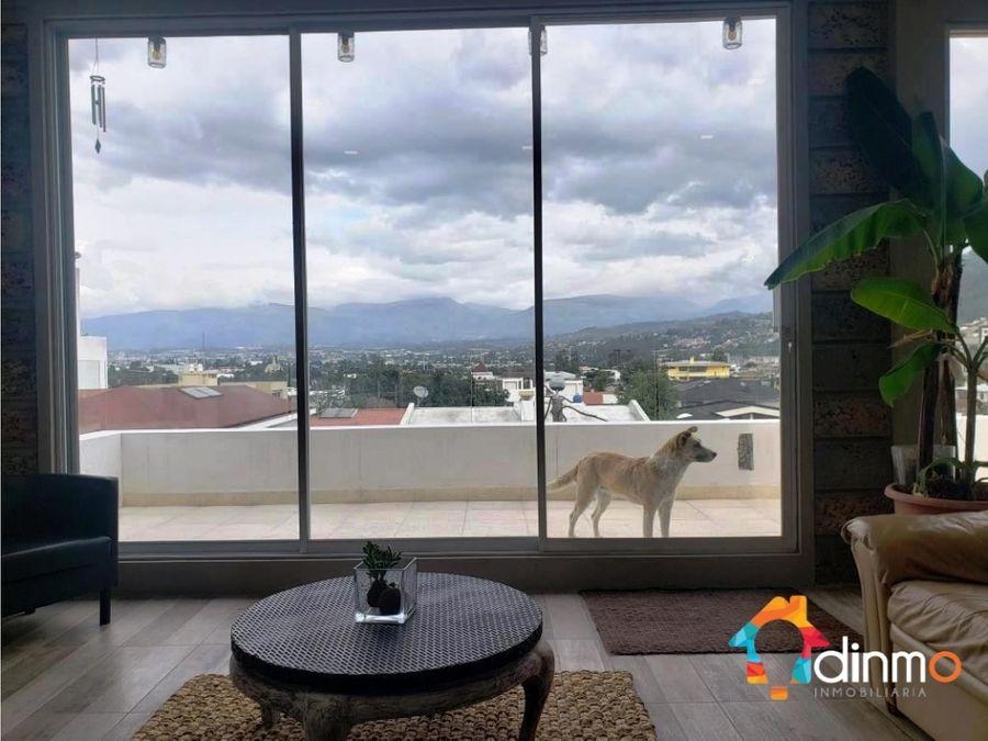 penthouse con terraza con vista la primavera cumbayadep de venta