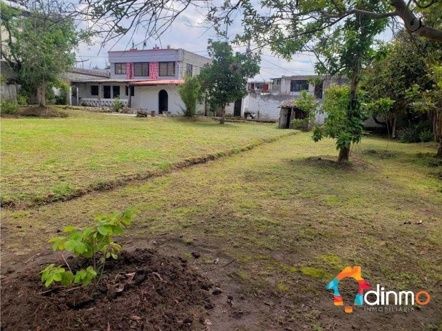 terreno 1114 m2 independiente de venta tumbaco en venta cos 105