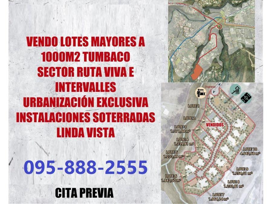terrenos de venta cumbaya urb exclusiva