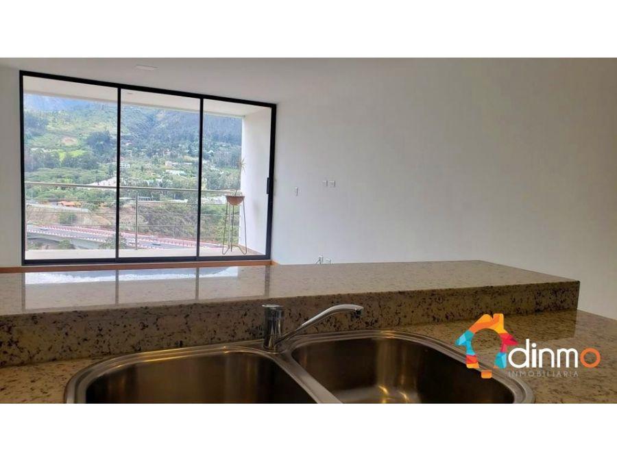 departamento 2 dor vista panoramica balcon en arriendo cumbaya