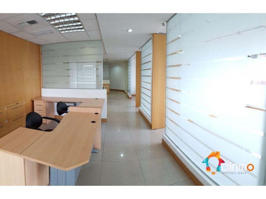 oficina en arriendo 550 m2 amoblada la carolina