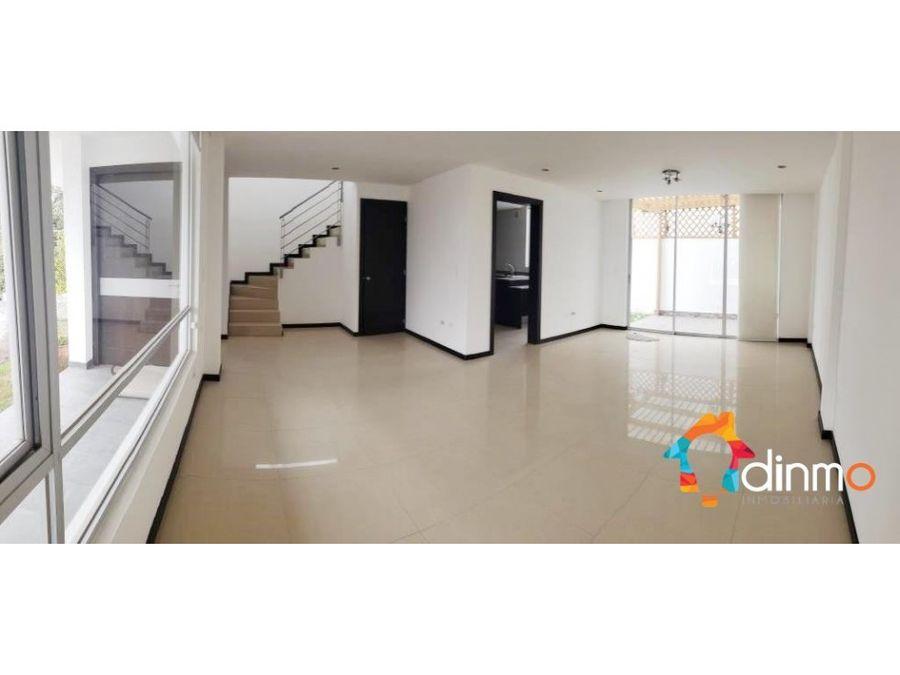 flamante casa en venta tumbaco en conjunto 3 dormitorios piscina