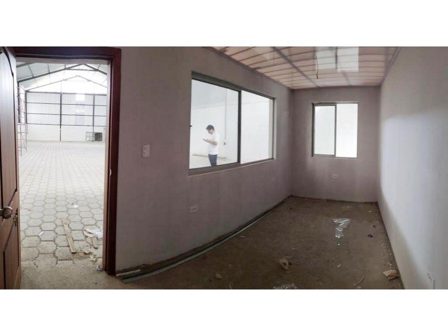 bodega en cumbaya 250 m2 flamante y cerca a todo arriendo