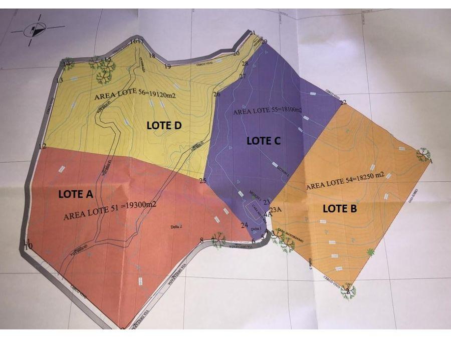 cuatro lotes a la venta en parcelacion estacion popalito 1era etapa