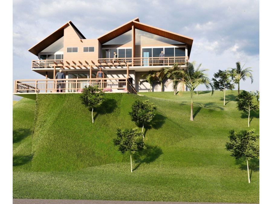 hermosa villa en proceso de construccion