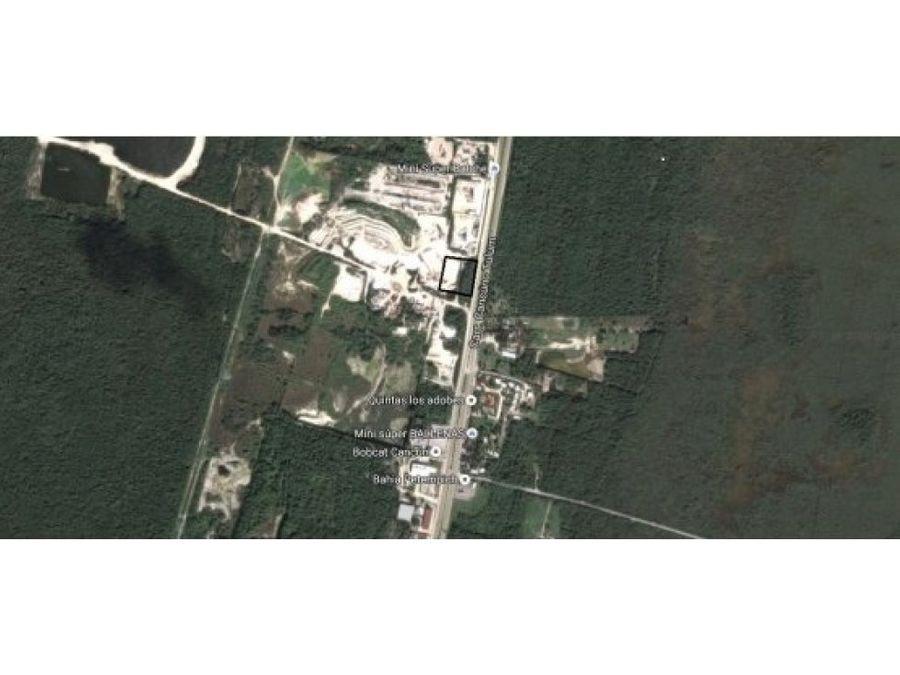 terreno industrial carr playa del carmen cancun