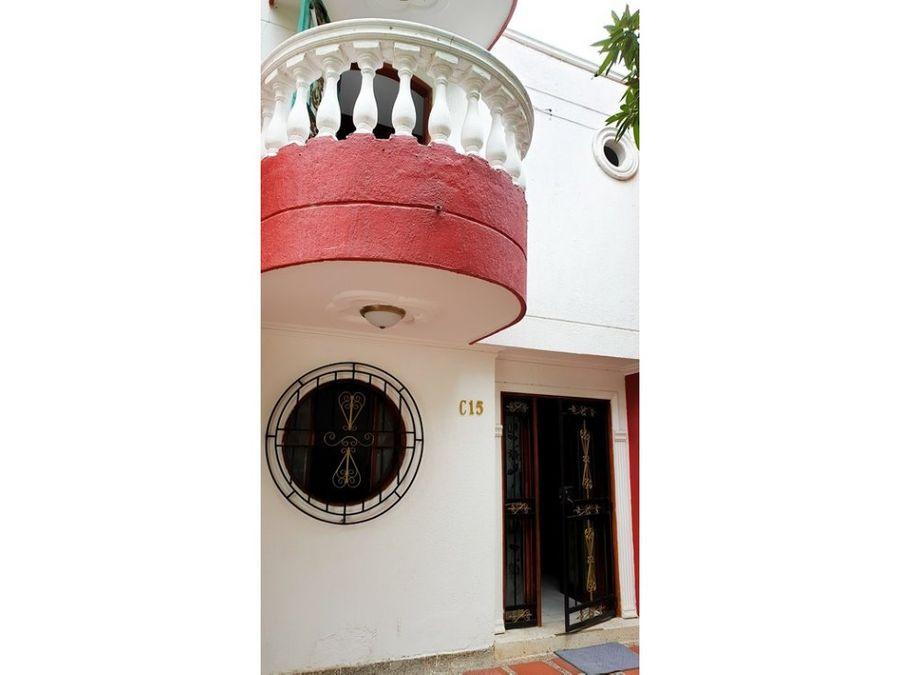 casa para venta en conjunto cerrado en santa marta